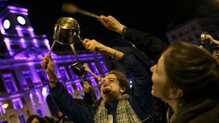 Dia Internacional da Mulher: Protestos em Madrid