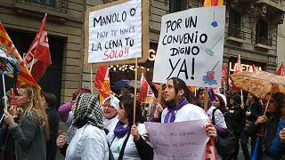 La histórica manifestación feminista en Barcelona desde dentro