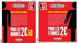 Το σημερινό φύλλο της εφημερίδας Liberation ακριβότερο για τους άνδρες