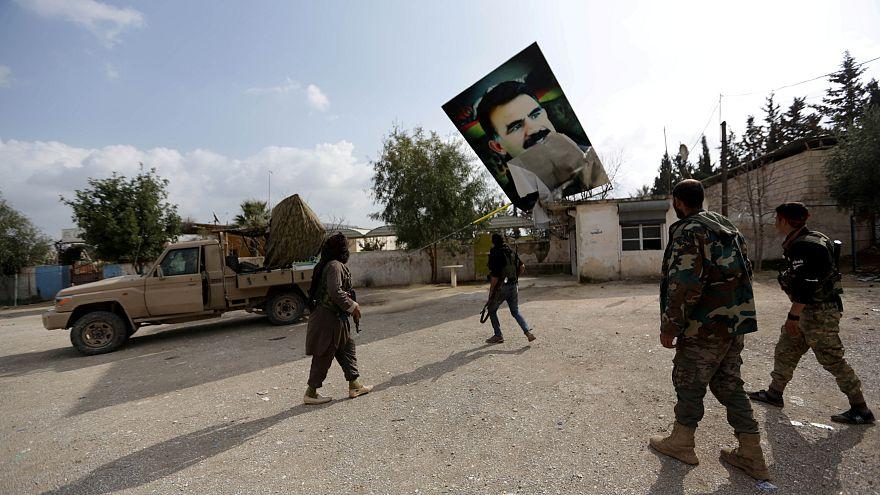 Türkisch unterstützte Kämpfer der Freien Syrischen Armee Im Dorf Kafr Jana