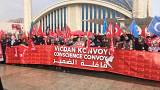 'Conscience Convoy' sees 10,000 female activists travel to Syria-Turkey border