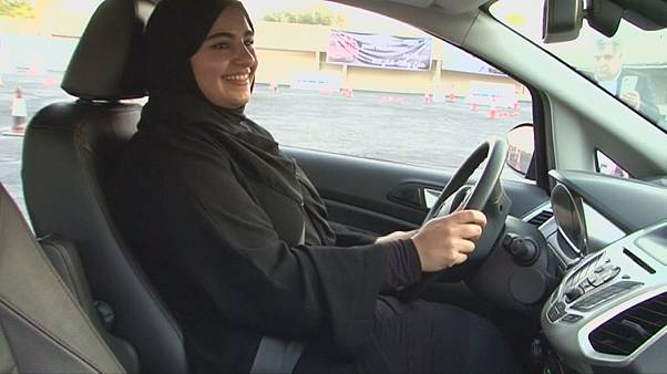 Watch: Saudi women take the wheel