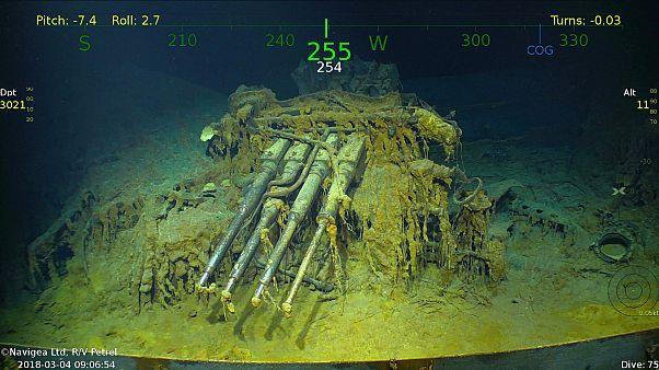 Encontrado porta-aviões datado da 2ª Guerra Mundial
