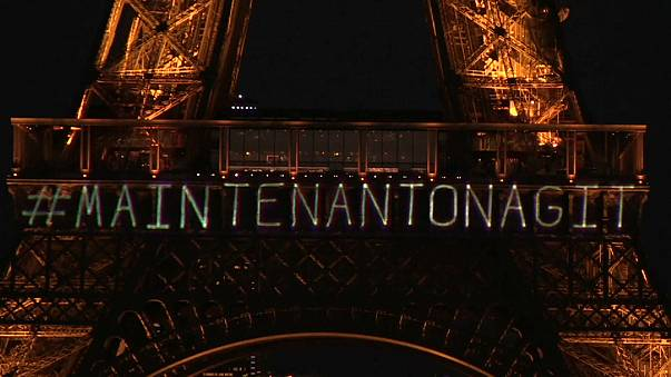 Eiffel Tower lights up for women's rights