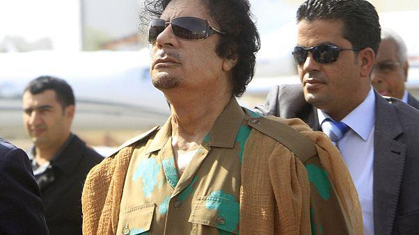 العقيد الليبي الراحل معمر القذافي