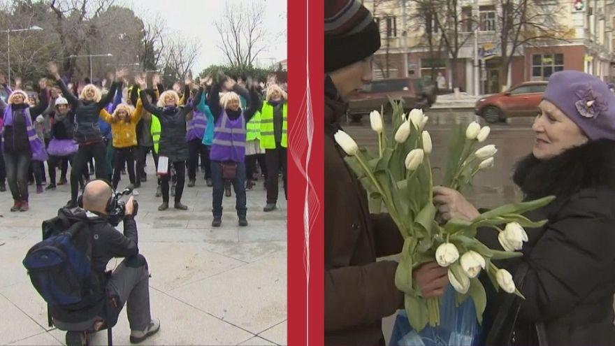 8 марта в России и в Испании