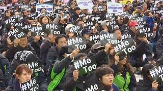 South Koreans hold rally on International Women's Day