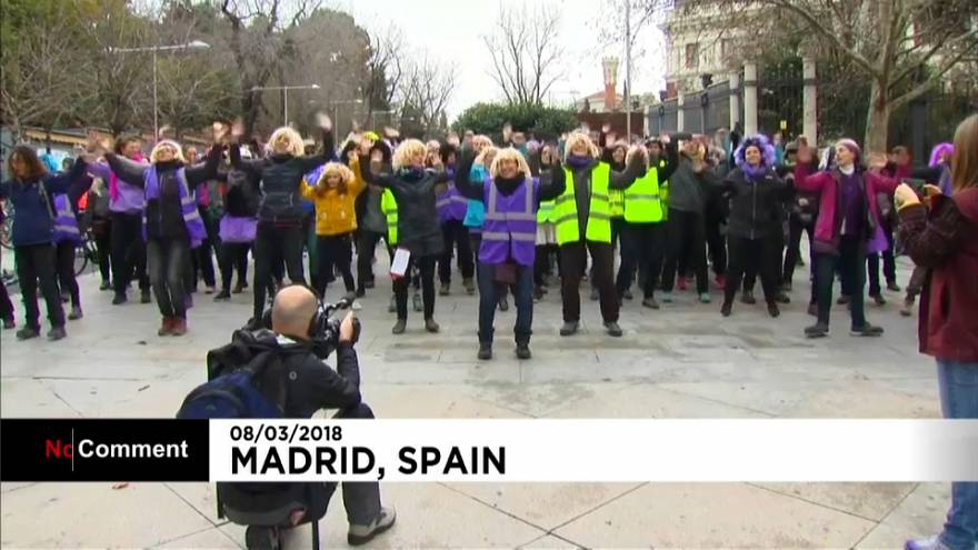 El Día Internacional de la Mujer en Madrid y Moscú