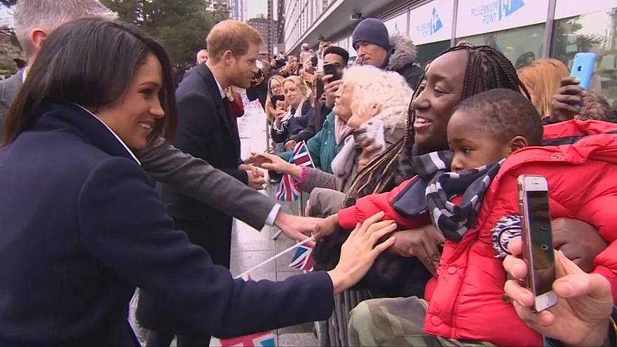 Harry and Meghan fascinate young and old in Birmingham