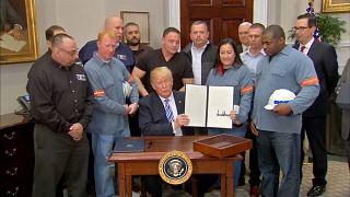 Trump: 25% auf Stahl und 10% auf Aluminium