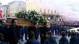 مراسم تشییع جنازه داوید استوری، کاپیتان پیشین تیم فیورنتینای ایتالیا