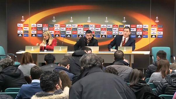 Europa League: Milan sconfitto, Gattuso rimprovera i suoi