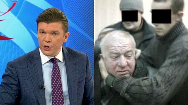 الجاسوس الروسي سيرغي سكريبال والمذيع الروسي كيريل كليمينوف