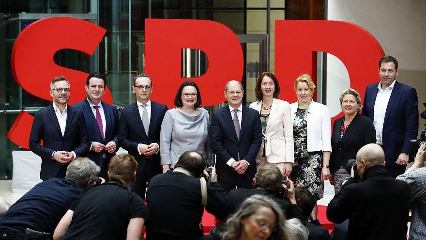 SPD stellt ihre Minister vor: 3 Männer, 3 Frauen