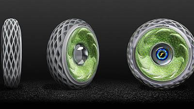 A tyre to fight pollution and produce oxygen