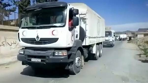 Aid finally arrives in the besieged Syrian enclave of Ghouta