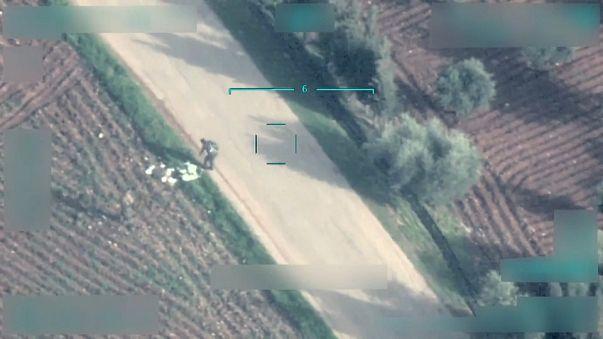 طائرة من دون طيار تركية تستهدف مقاتلين أكرادً وألغام تقتل مدنيين في عفرين