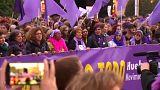 İspanya'da 6 milyon kadın cinsiyet eşitsizliğini protesto etti