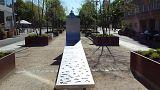 Monumento em memória das vítimas dos atentados de Bruxelas de 2016