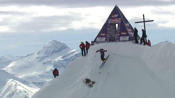 Les riders au sommet en Autriche