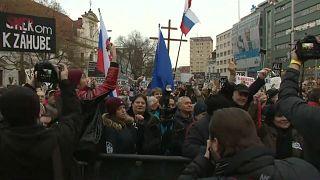 Riesendemo in Bratislava