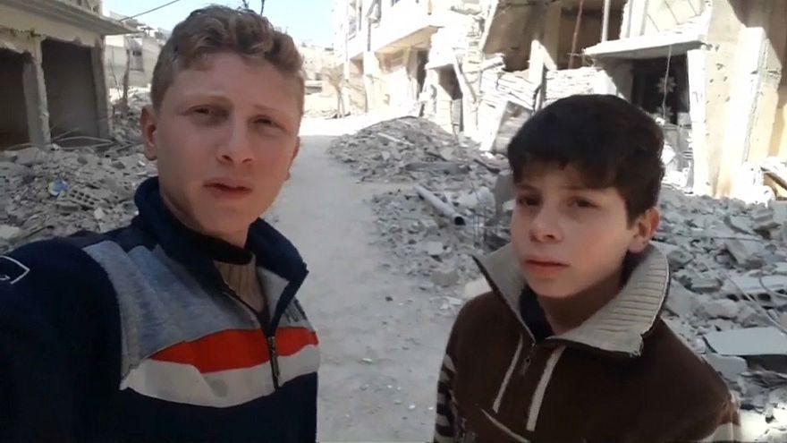 تعرفوا على محمد نجم أصغر مصور في الغوطة الشرقية