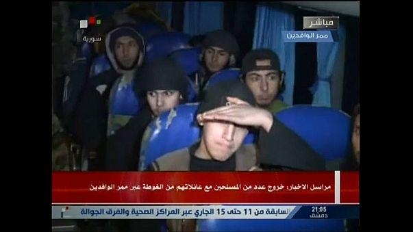 Ghouta orientale : évacuation des premiers djihadistes