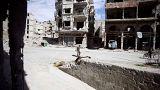 Erste Kämpfer verlassen Rebellengebiet Ost-Ghouta