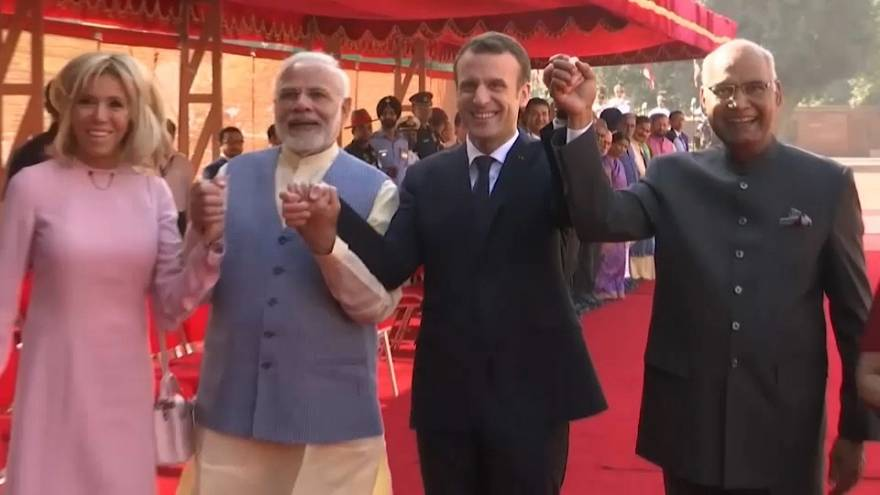 Macron begins official visit to India