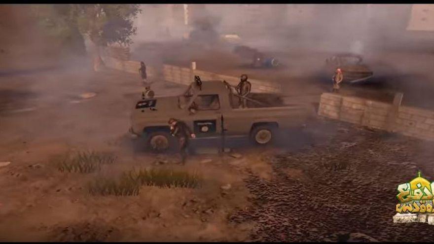"""""""الدفاع المقدس"""".. لعبة ثلاثية الأبعاد  يطلقها حزب الله اللبناني للترويج """"لتضحياته"""" في سوريا"""