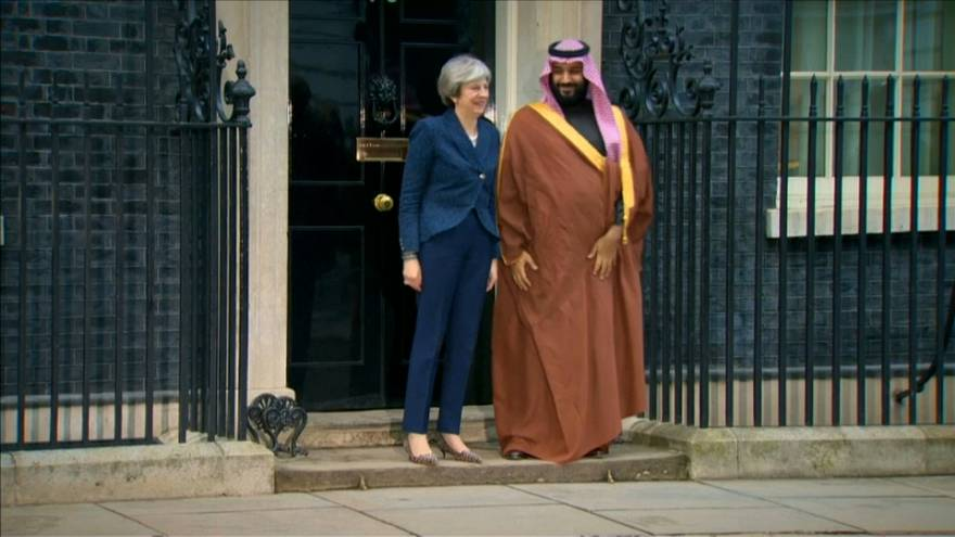 Saudi Crown Prince Mohammed bin Salman meets British Prime Minister