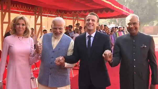 Визит Макрона в Индию