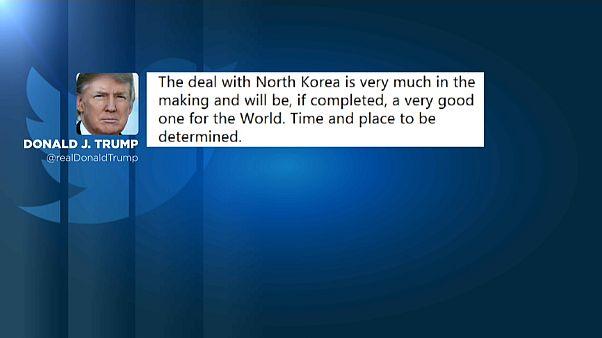 """Trump tweets N.Korea deal """"in the making"""""""