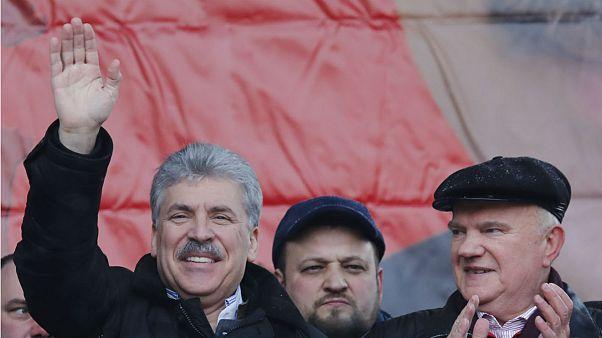 Kampányolt Moszkvában a Kommunista Párt