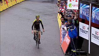 Simon Yates Paris- Nice Bisiklet Yarışı'nda liderliğe yükseldi