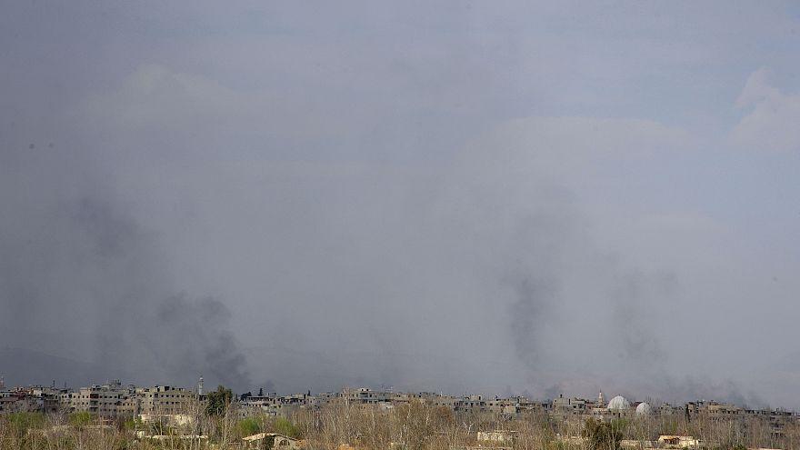 Συνεχίζονται οι μάχες στην ανατολική Γούτα, κοντά στην πρωτεύουσα της Συρίας