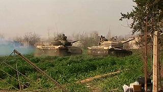 شاهد.. الجيش السوري يدخل مدينة مسرابا