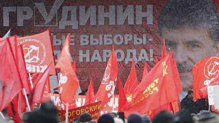 Προεκλογική συγκέντρωση του ΚΚ Ρωσίας στη Μόσχα
