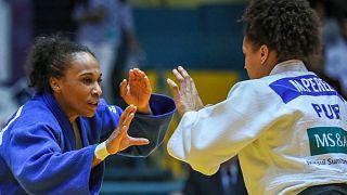 Morocco's Assmaa Niang in the Agadir Grand Prix 2018 -70 kg Final