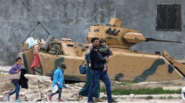 Truppen der Türkei kurz vor Afrin