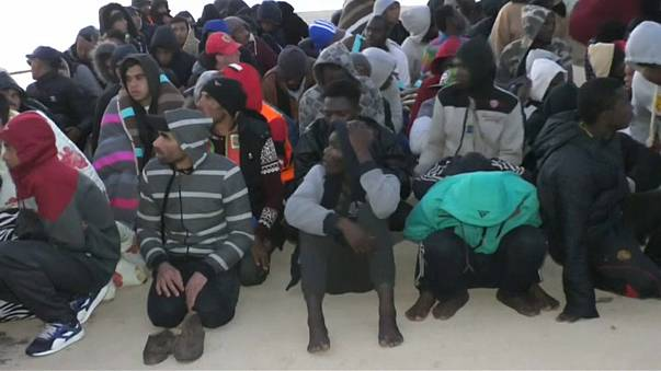 Hundreds of migrants rescued off Libya