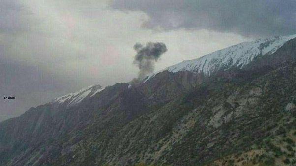 نخستین تصویر از محل سقوط هواپیمای ترکیه ای در ایران