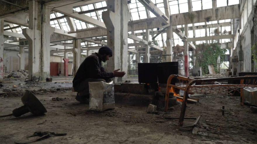 Refugiados em condições desumanas na Grécia