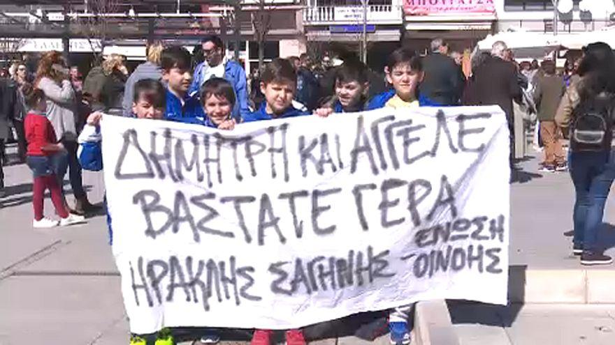 Tüntettek a török hatóságok által letartóztatott görög katonákért