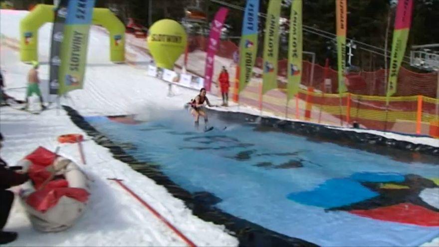 مسابقه اسکی آبپاش در لهستان