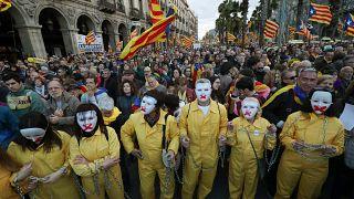 """Les indépendantistes catalans pour """"La République maintenant"""""""