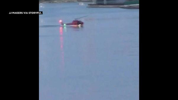 New York'ta helikopter nehre düştü: 5 ölü