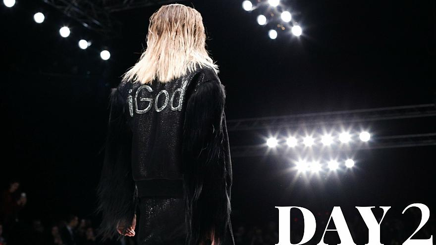Fierce fashion and 'glamazones' stride Moscow Fashion Week day 2