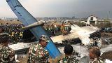Passenger plane crashes off runway at Kathmandu airport, killing 50