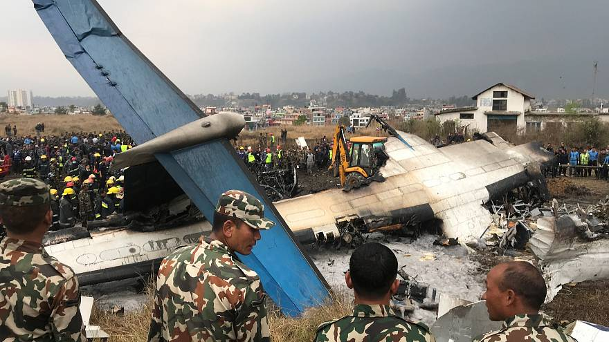 Passenger plane crashes off runway at Kathmandu airport, killing 50